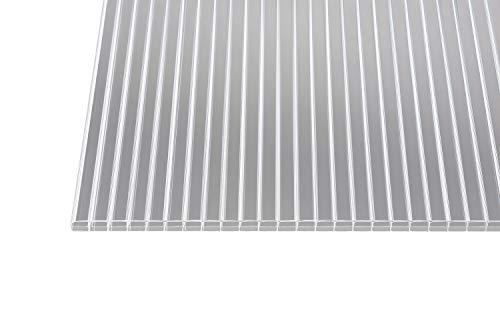 Polycarbonat Stegplatten Hohlkammerplatten klar 16 mm (1200 mm Breite) (2500 x 1200 x 16 mm)