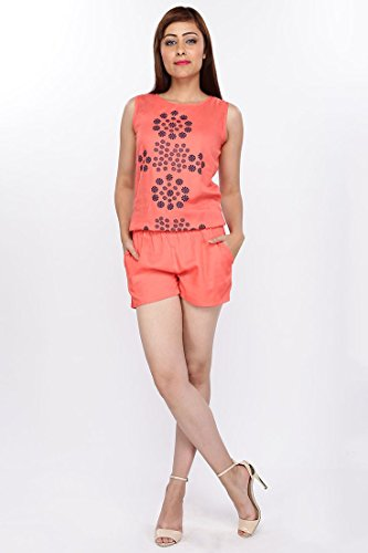 LUCKY CHARM Women Printed Coral Jumpsuit  available at amazon for Rs.399