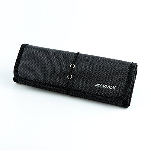 Arvok Elektronik Organizer Zubehör Klein Tasche Reise Tragbare Reisetasche Aufbewahrungstasche Festplattentasche Reisekoffer Kosmetiktasche Schutzhülle für Festplatten Kabel USB-Sticks, Schwarz (Pocket Festplatte)
