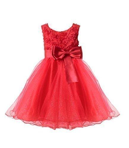 6fd2b086a Live it Stylet it Vestido de dama de honor para niña, sin mangas, diseño