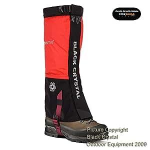 Guêtres randonnée trekking pour femmes Black Crystal en nylon imperméable couleur rouge tailles 35-37