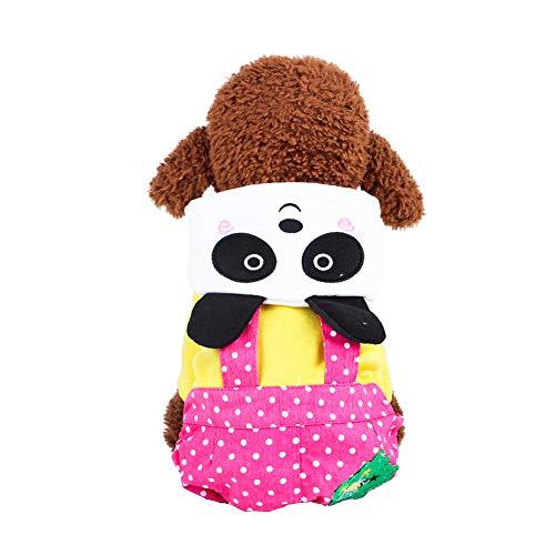 Morbuy Hund Katzen Kostüme Welpe Kostüm Kapuzenpullis, Haustiere Pullover Sweater Halloween Haustier Nettes Cosplay für Kleine Katzen Welpen (M, Panda stieg) (Mops Panda Kostüm)