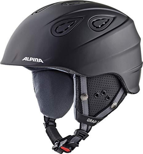 Alpina Erwachsene Grap 2.0 Skihelm\', black matt, 54-57 cm