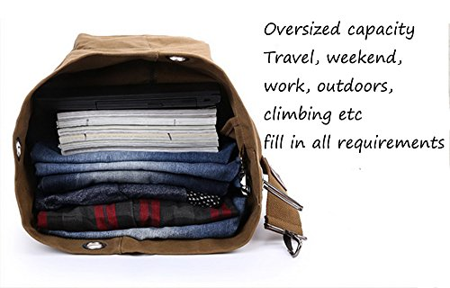 WOMJIA Übergroße Leinwand Reisetasche Weekender Gepäcktasche 40 Liter (Blau) Blau