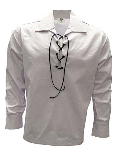 Este ghillie de estilo jacobeo viene completo con cordón negro, ideal como parte de un traje escocés tradicional, ideal para bodas y todas las ocasiones formales.
