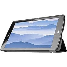Para LG G PAD X8.3 Funda, HZSSEC Funda Slim-Fit Folio Smart Case Coque para LG G PAD X8.3 (4G LTE Verizon Wireless VK815) con soporte y cierre magnético con función veille automatique - Negro