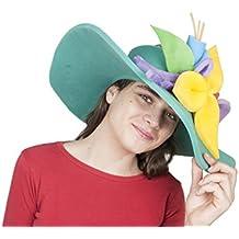 c601e856aecda Sombrero de gomaespuma pamela verde de flores de colores