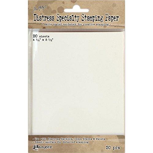 Ranger Distress Specialty Stamping Papier 10,8cm x 14, 20Blatt - Papier Distress
