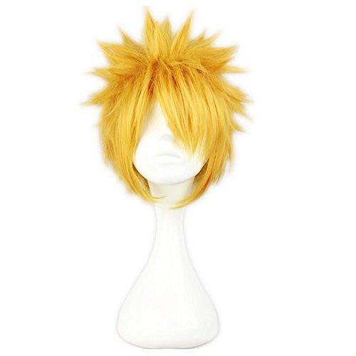 piky kurze gelbe blonde männliche Anime Show Cosplay Kostüm Perücken ()