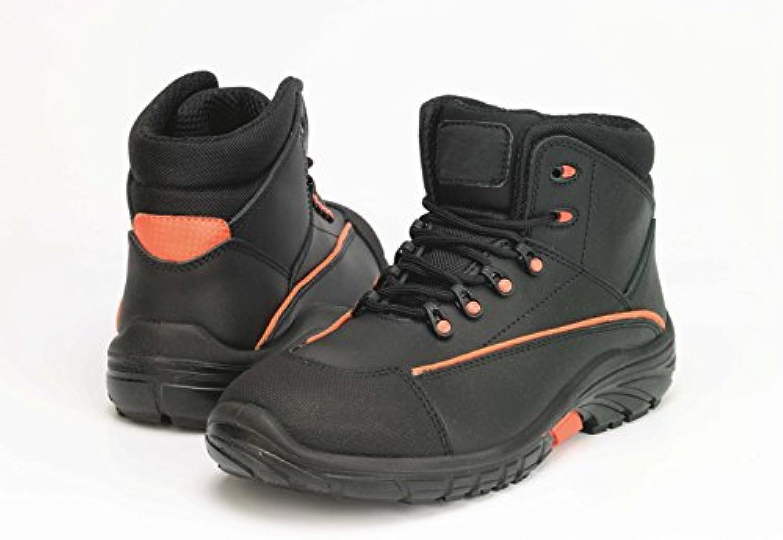 Samurai 1022034008 par de zapatillas altas NEW Borneo S3 SRC, negro/naranja, 43