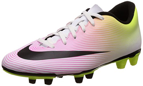 Nike Mercurial Vortex II Fg, Scarpe da Calcio Uomo Bianco (Blanco (Blanco (White/Black-Volt-Total Orange)))
