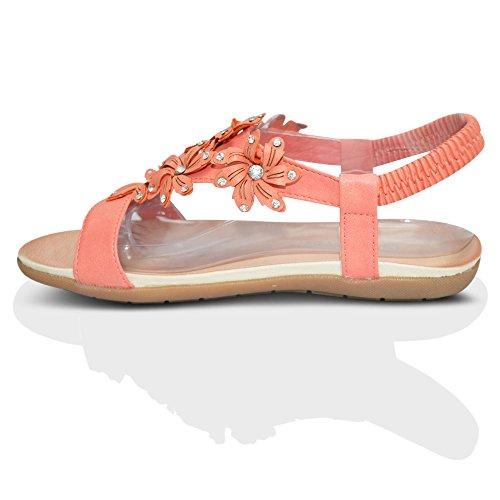 Sandálias Do Senhoras Verão Da Macia Rosa Dimensionar Planas Praia Palmilha 41 Novas 36 Cinta Ue fHxXH