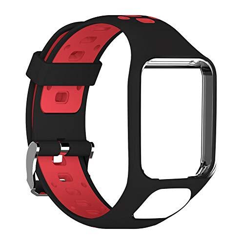 Juman634 Correa de Reloj, para Tomtom 2 Generación 3ra generación Spark Series Runner 2 3 Series Golfer 2 Series GPS Reloj Correa de reemplazo de Silicona Correa para la muñeca 24 cm de Largo