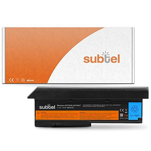 subtel® Qualitäts Akku (6600mAh) für Lenovo ThinkPad X200 / X200s / X201...