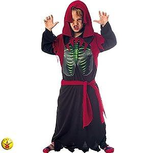 Rubies- Disfraz infantil de esqueleto holográfico, Talla única (Rubie