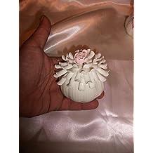 Profumatore in porcellana fiore bianco c/pistilli - Bomboniera Matrimonio/Anniversari