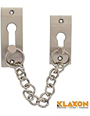 Klaxon Exclusive Brass Door Chain (Silver, Silver Finish)