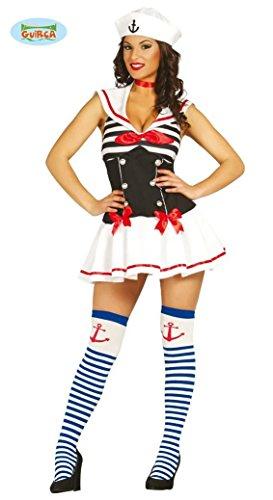 KOSTÜM - SEXY SAILOR GIRL - Größe 38/40 (M), Unifom Seefahrer Matrose Mädchen Kapitänsfrau (Halloween Kostüme Sailor Mädchen)