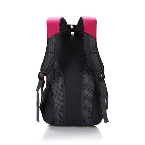 Große Kapazität Reiserucksack Schultertasche Im Freien Reise Lässig Tasche Student Umhängetasche,Pink Red