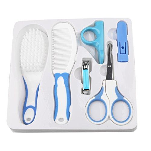 Haar-pflege-set (Sharplace Pflege-Set Neugeborene Erstausstattung Babypflege Babykörperpflege Nagel Haar Pflegeset - Blau)