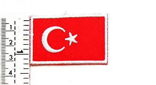 Mini Flagge Türkei türkischer Stern Halbmond Patch Fahne Flagge Land Nationalflagge Aufnäher Weste Jacke Biker Biker Biker Tattoo Jacke T-Shirt Aufnäher Aufbügler Aufbügler Aufbügler Abzeichen
