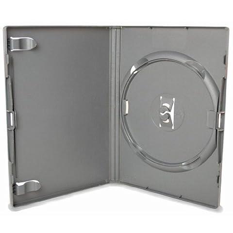 AGI Amaray Lot de 50 boîtiers CD/DVD Noir Tranche de 14 mm-Pack de 50