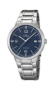 Candino reloj hombre de cuarzo con Esfera Analógica Azul Pantalla y Plata Pulsera de acero inoxidable C4510/2 de Candino
