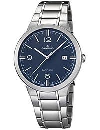 Candino reloj hombre de cuarzo con Esfera Analógica Azul Pantalla y Plata Pulsera de acero inoxidable C4510/2