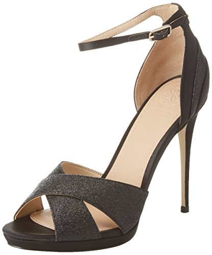 Guess Footwear Dress Sandal, Scarpe Col Tacco con Plateau Donna Nero