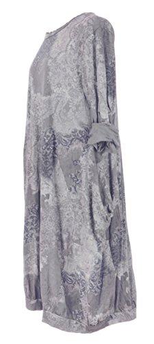 Generic -  Vestito  - Maniche lunghe  - Donna Pale Grey