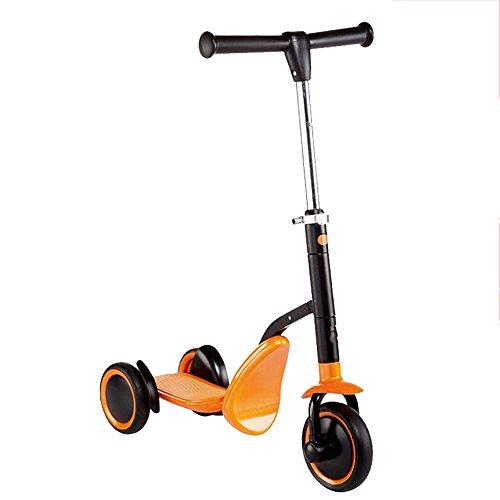 LVZAIXI Kleinkind 3 Rad Roller & Ride-On Balance Trike 2-in-1 einstellbar für 2, 3, 4, 5-jährige Kinder Junge oder Mädchen verwandelt sich in Sekunden ( Farbe : Orange ) (Kleinkind Helm Für 2-jährige)