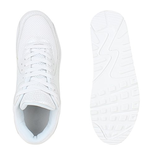 Herren Damen Sportschuhe Laufschuhe Runners Sneakers Prints Weiss Bexhill