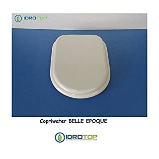 Cesame BELLE EPOQUE White Toilet Seat with Hinges in Chrome