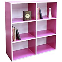 Preisvergleich für Absolute Deal 3-Tier-Bücherregal Display Ablagen Stauraum,, Holz, pink, 80 x 30 x 90 cm