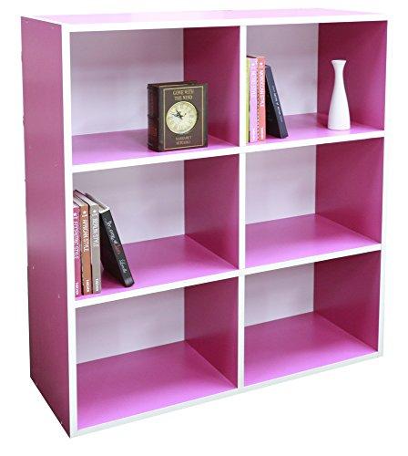 Absolute Deal 3-Tier-Bücherregal Display Ablagen Stauraum,, Holz, pink, 80 x 30 x 90 cm (3-tier-bücherregal-regal)