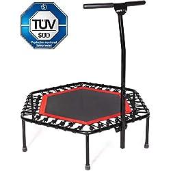 Sportplus - Trampoline de Fitness / Gymnastique - Système de Cordes Bungee - Ø 126 cm - Parfait pour l'Intérieur - Caches Rebords incl. - Poids de l'Utilisateur jusqu'à 130 kg - Sécurité Contrôlée