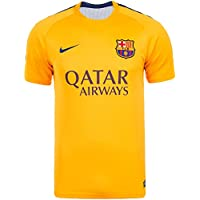 2015-2016 Barcelona Nike Pre-Match Training Jersey (Gold)