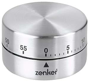 Fackelmann 41936 Kurzzeitwecker Zylinder, Edelstahl