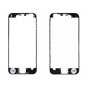 2 x Rahmen Middle Frame Housing Bezel Mittel Gehäuse Schale Cover mit Heißkleber für Apple iphone 5C Schwarz # itreu