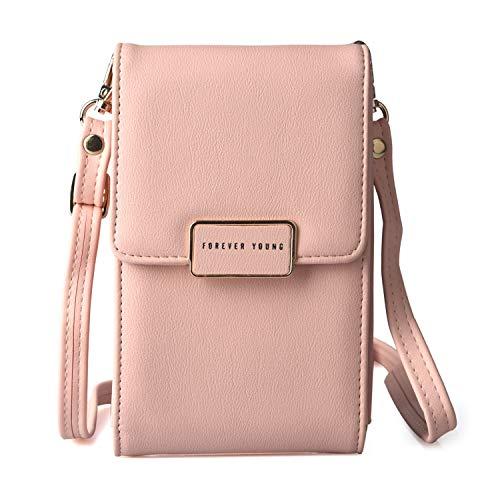 Frauen Handy Tasche Kleine Umhängetasche Schultertasche für Handy Handytasche Kleine Umhängetasche Mini Geldbörse für Damen Mädchen -