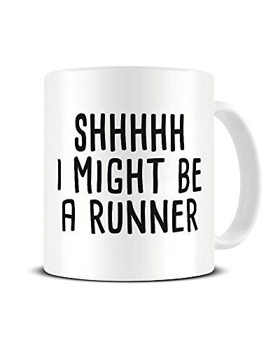 Funky NE Ltd Kaffeetasse aus Keramik, Motiv: Shhhhh.I Might Be A Runner