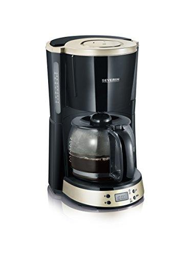 Severin ka 4190 macchina per caffè americano, tè, tisane e infusi, con timer, nero/camoscio