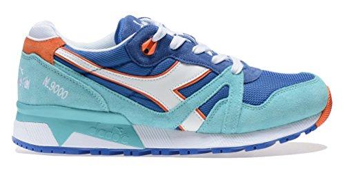 Diadora N9000 Jr, Sneaker Basses Mixte Enfant Bleu (Blu Principessa/azzurro Capri)