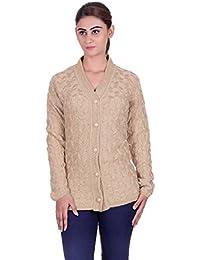 eWools women's Ladies Girls woolen winter wear cardigan (Self Design)
