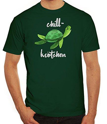 Turtle Schildkröte Herren T-Shirt mit Chillkrötchen 2 Motiv von ShirtStreet Dunkelgrün
