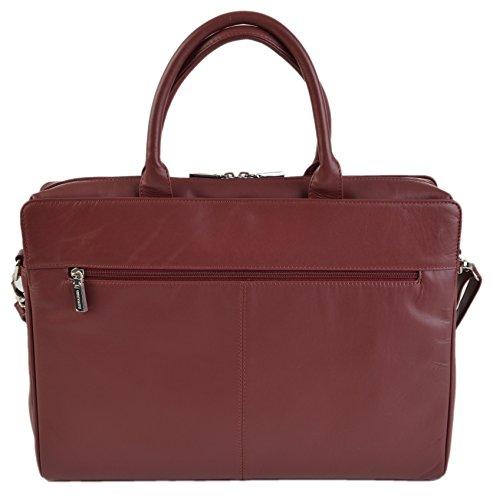 Visconti - Damen Business Tasche Groß 13 Zoll Laptop Tasche in Schwarz oder Rot 18427 Rot