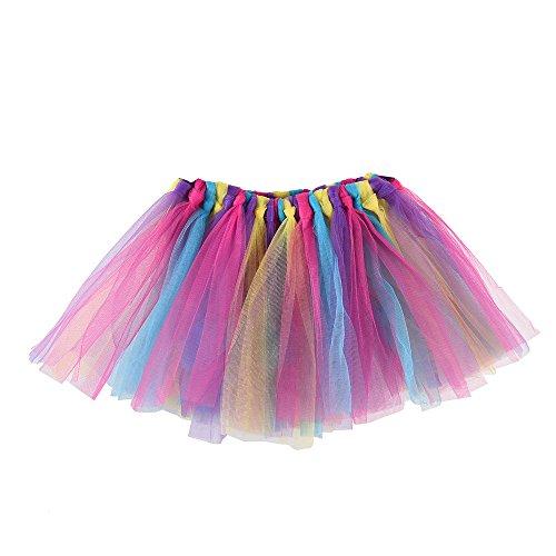cf6069bd30 Xmiral Disfraz Carnaval Ballet Tutu para Niñas Falda Tul Colorido para  Fiesta Danza Baile Pettiskirt Suave