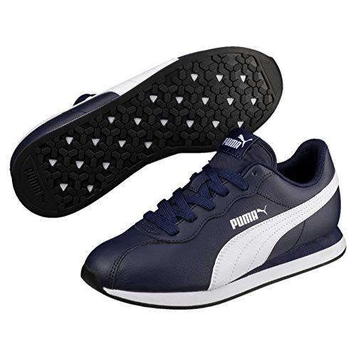 Puma Unisex-Kinder Turin II Jr Sneaker, Blau (Peacoat White 03), 39 EU