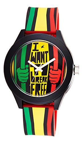 41xVs1TVdnL - Fastrack 38003PP03 Tees Multi Color watch