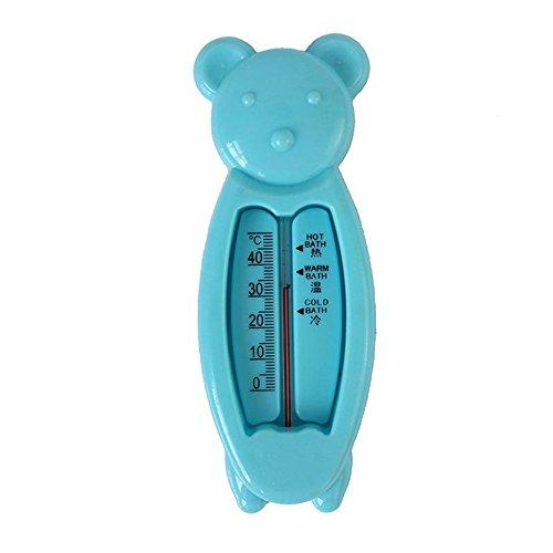 Badethermometer, Isuper 2er Pack Baby Badewanne Thermomete für Sicheres Baden, Niedlicher Bär Badespielzeug (Blau)